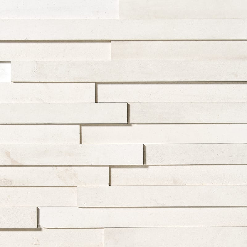 Champagne Honed Limestone Wall Deco Elevations Pattern