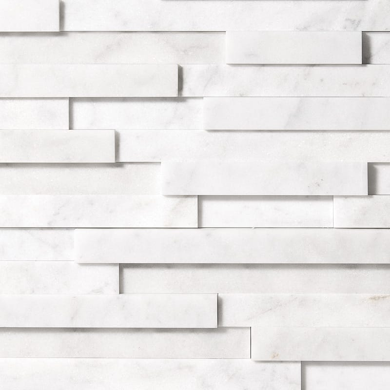 Glacier Honed Marble Wall Deco Elevations Pattern