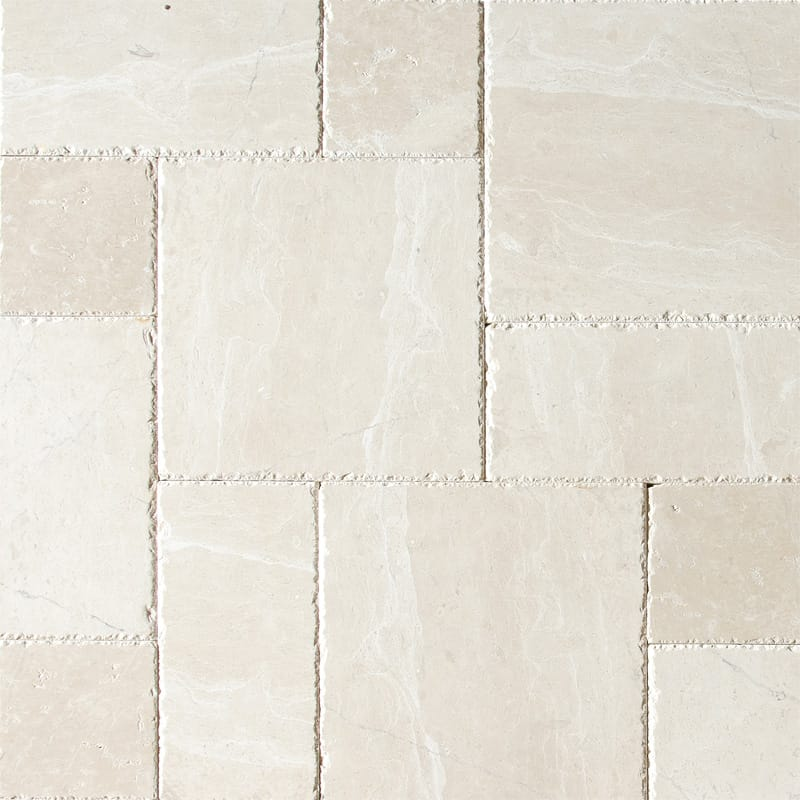 Royal Cream Brushed Chiselled Versailles Pattern Marble Patterns
