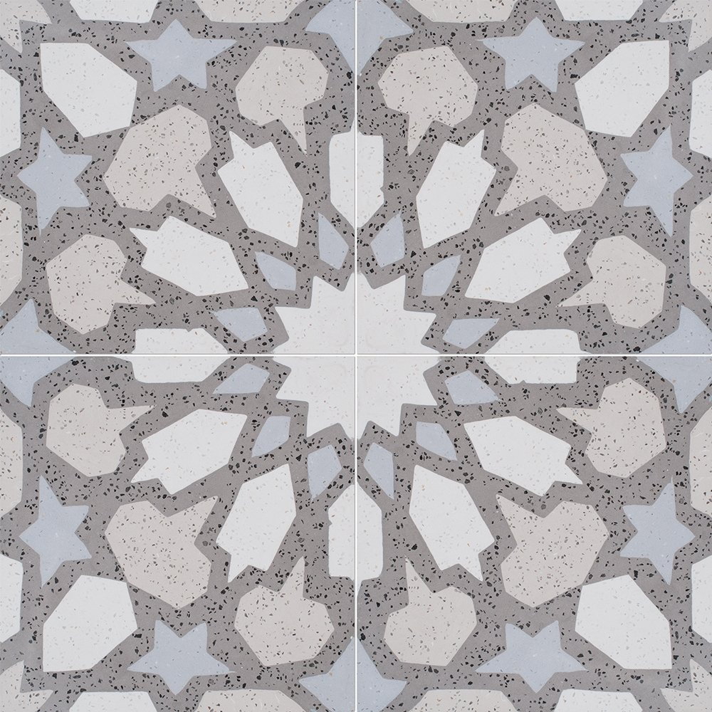 Country Floors Of America Llc: Brown, Light Polished Arietta Cement Tiles 8x8