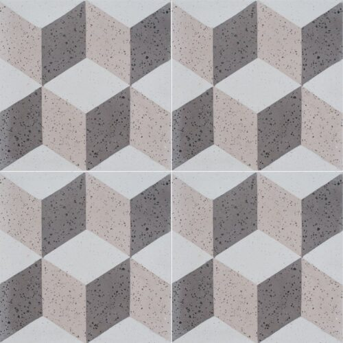 Brown, Light Polished Grave Cement Tiles 8×8