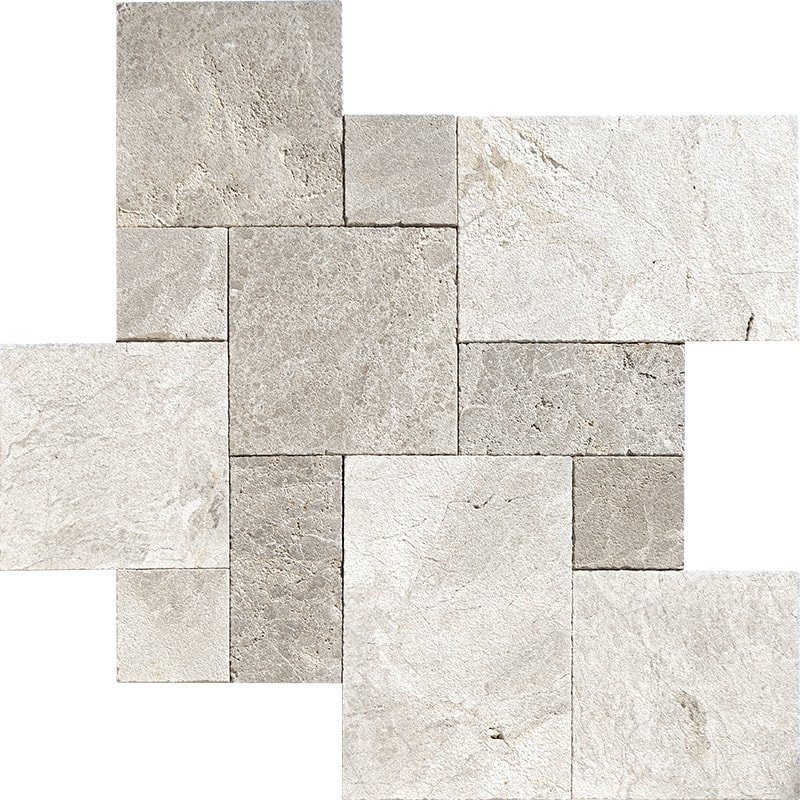 Silver Shadow Textura Seal Marble Pavers Versailles Pattern