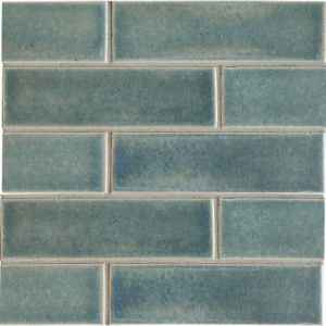Aqua Marine Leather Ceramic Tiles 2 1/8x7 1/2