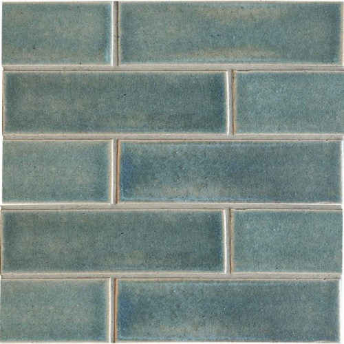 Aqua Marine Leather Ceramic Tiles 2 1/8×7 1/2