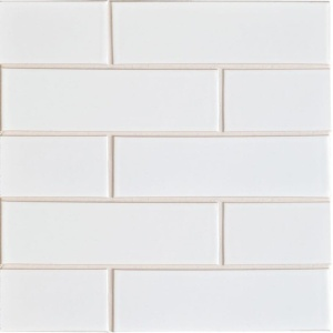 Eggshell Gloss Ceramic Tiles 2 1/8x7 1/2