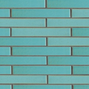 Turquoise Flats Leather Ceramic Tiles 1 5/8x11 5/8
