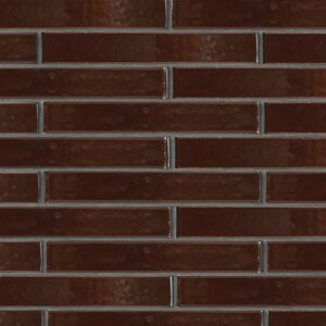 Port Brown Gloss Ceramic Tiles 1 5/8x11 5/8