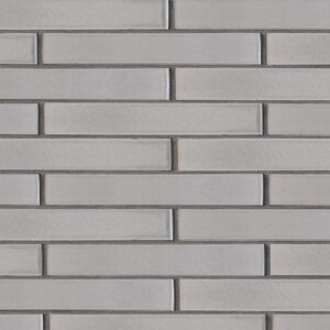 Nantucket Gray Gloss Ceramic Tiles 1 5/8x11 5/8