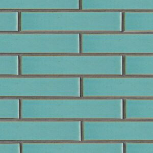 Turquoise Flats Leather Ceramic Tiles 2 1/4x11 5/8