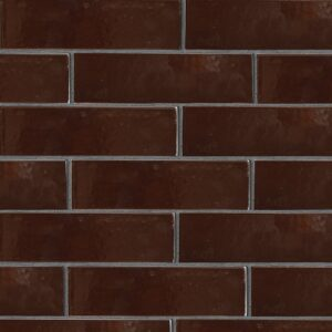 Port Brown Gloss Ceramic Tiles 2 5/8x9 5/8