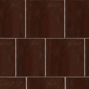 Port Brown Gloss Ceramic Tiles 7 5/8x7 5/8