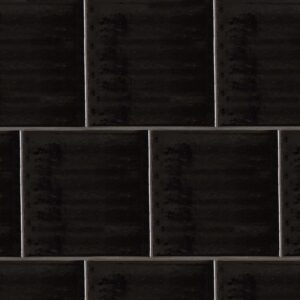 Black Vinyl Gloss Ceramic Tiles 7 5/8x7 5/8