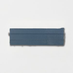 Hudson Blue Strided Ceramic Wall Decos 2 1/4x7 3/8