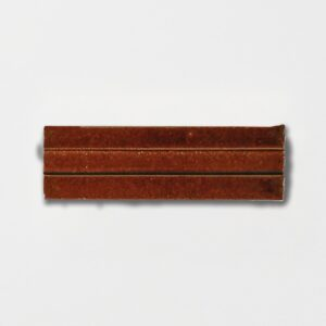 Woody Brown Strided Ceramic Wall Decos 2 1/4x7 3/8