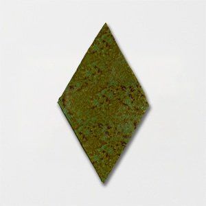 Tefusee Green Plain Harlequin Ceramic Tiles 4 1/2x7 1/2