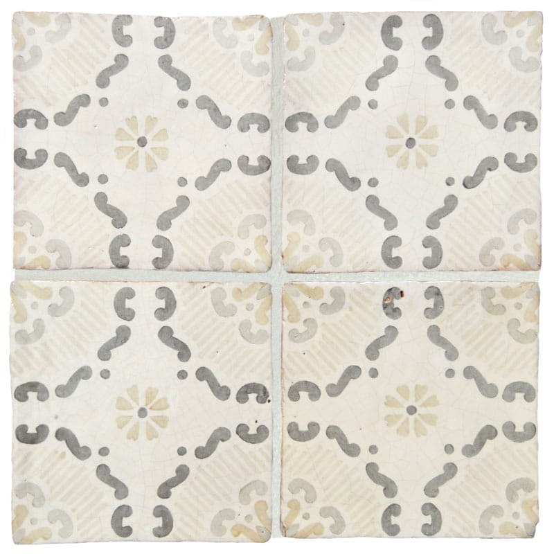 Milazzo Glazed Terracotta Decorative X Country Floors Of America - 8x8 slate tile