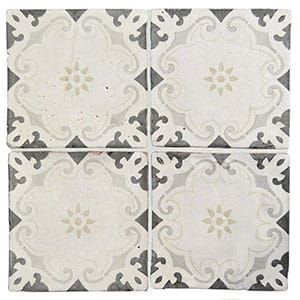 Modica Glazed Ceramic Decorative 6x6