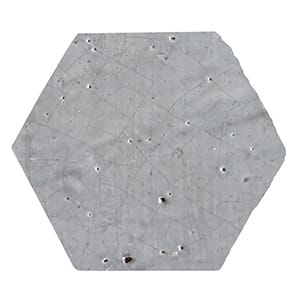 Charcoal Glazed Hexagon Terracotta Tiles 6x6