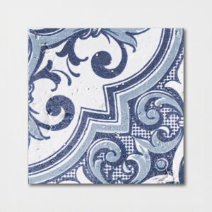 Sintra 2 Square 1/2 Glazed Ceramic Tiles 6x6