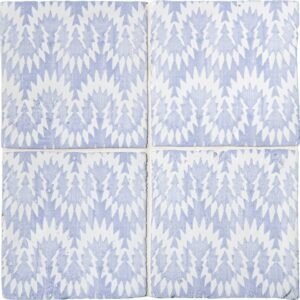 Indigo Wash Flama Glossy Terracotta Tiles 6x6