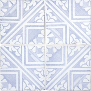 Indigo Wash Manorca Glossy Terracotta Tiles 6x6