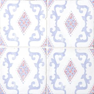 Indigo Wash Glossy India Terracotta Tiles 6x6
