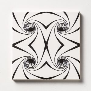Black Twisted Glossy Ceramic Tiles 6x6