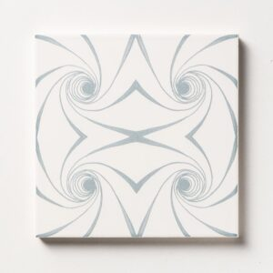 Grey Twisted Glossy Ceramic Tiles 6x6