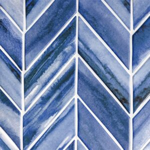 Mist Matte Chevron Ceramic Tiles 2x6