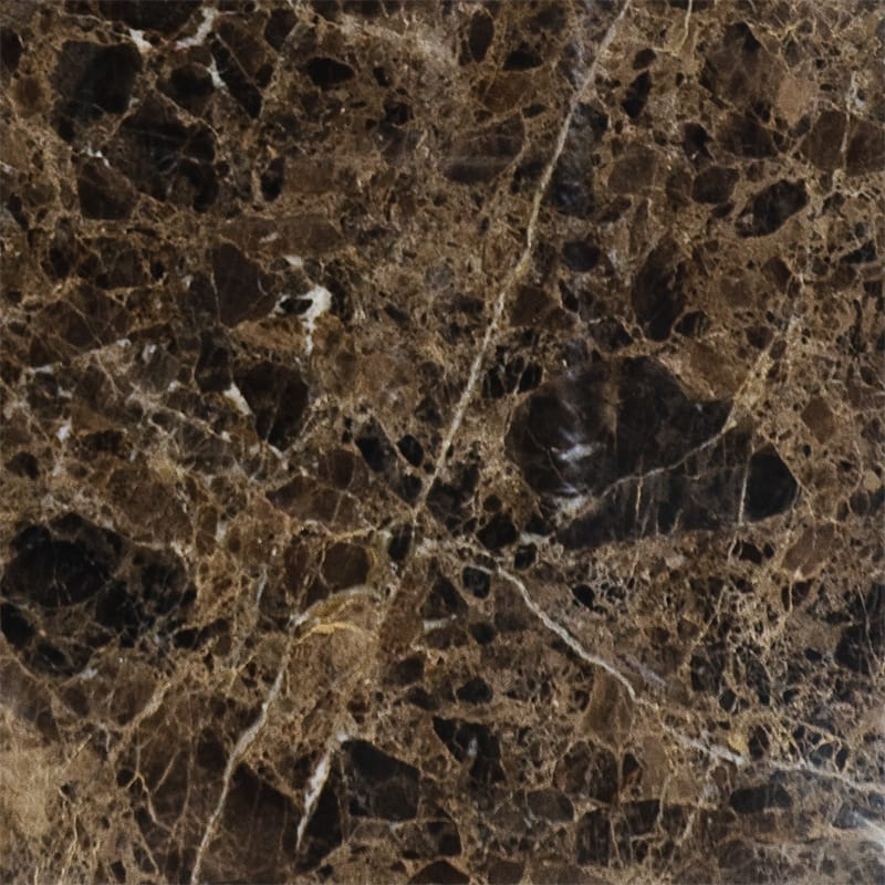 Emperador Dark Polished Marble Tiles 18x18