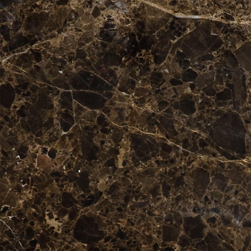 Emperador Dark Polished Marble Tiles 5 1/2x5 1/2