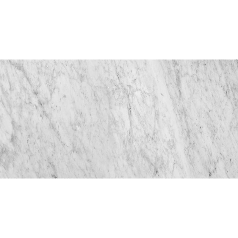 White Carrara Polished Marble Tiles 12x24