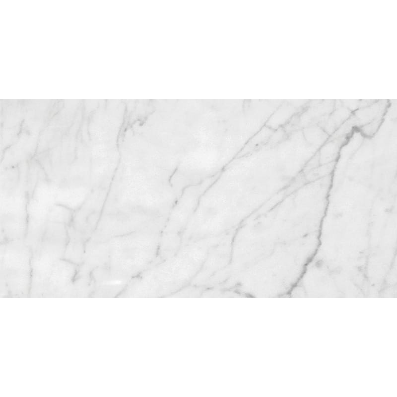 White Carrara C Honed Marble Tiles 12x24