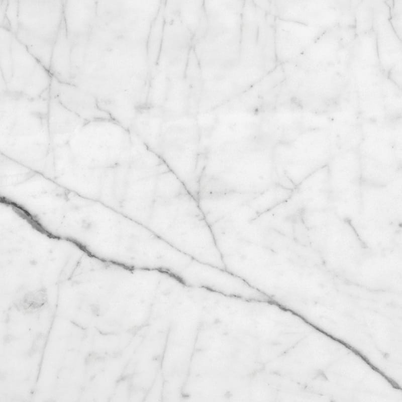 White Carrara C Honed Marble Tiles 12x12