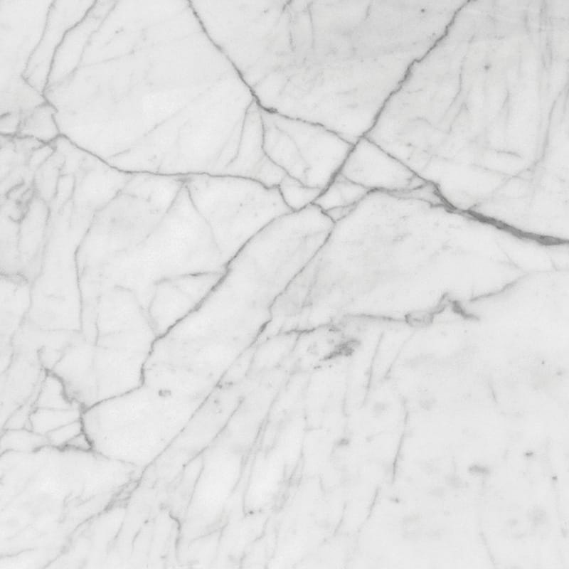 White Carrara C Polished Marble Tiles 18x18