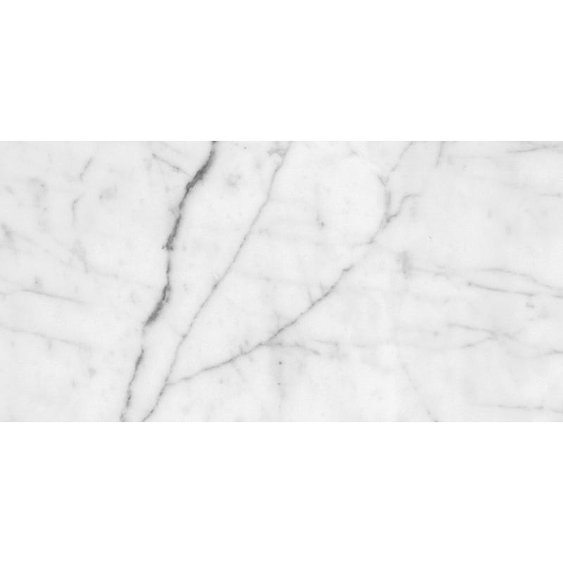 White Carrara C Honed Marble Tiles 2 3/4x5 1/2