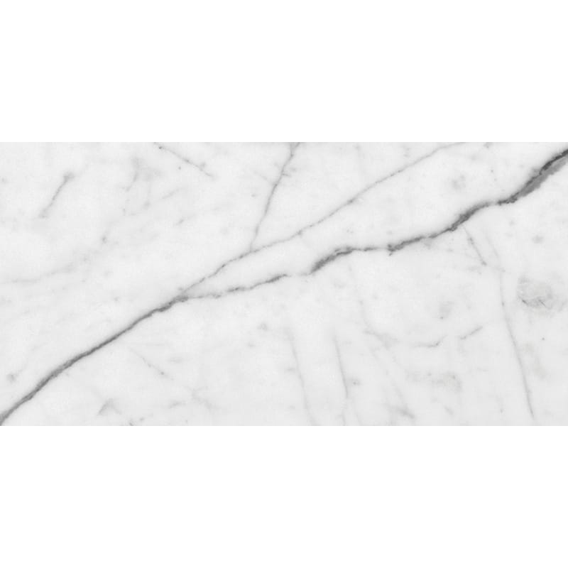 White Carrara C Polished Marble Tiles 2 3/4x5 1/2