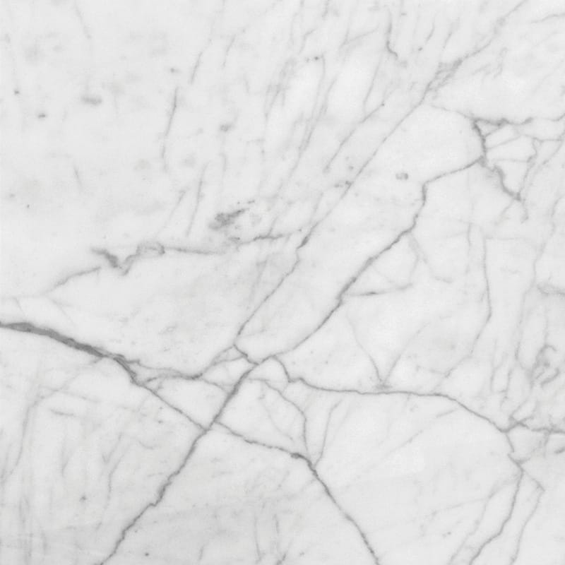 White Carrara C Honed Marble Tiles 18x18