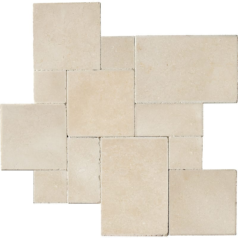 Alexander Cream Tumbled Limestone Patterns Versailles Pattern