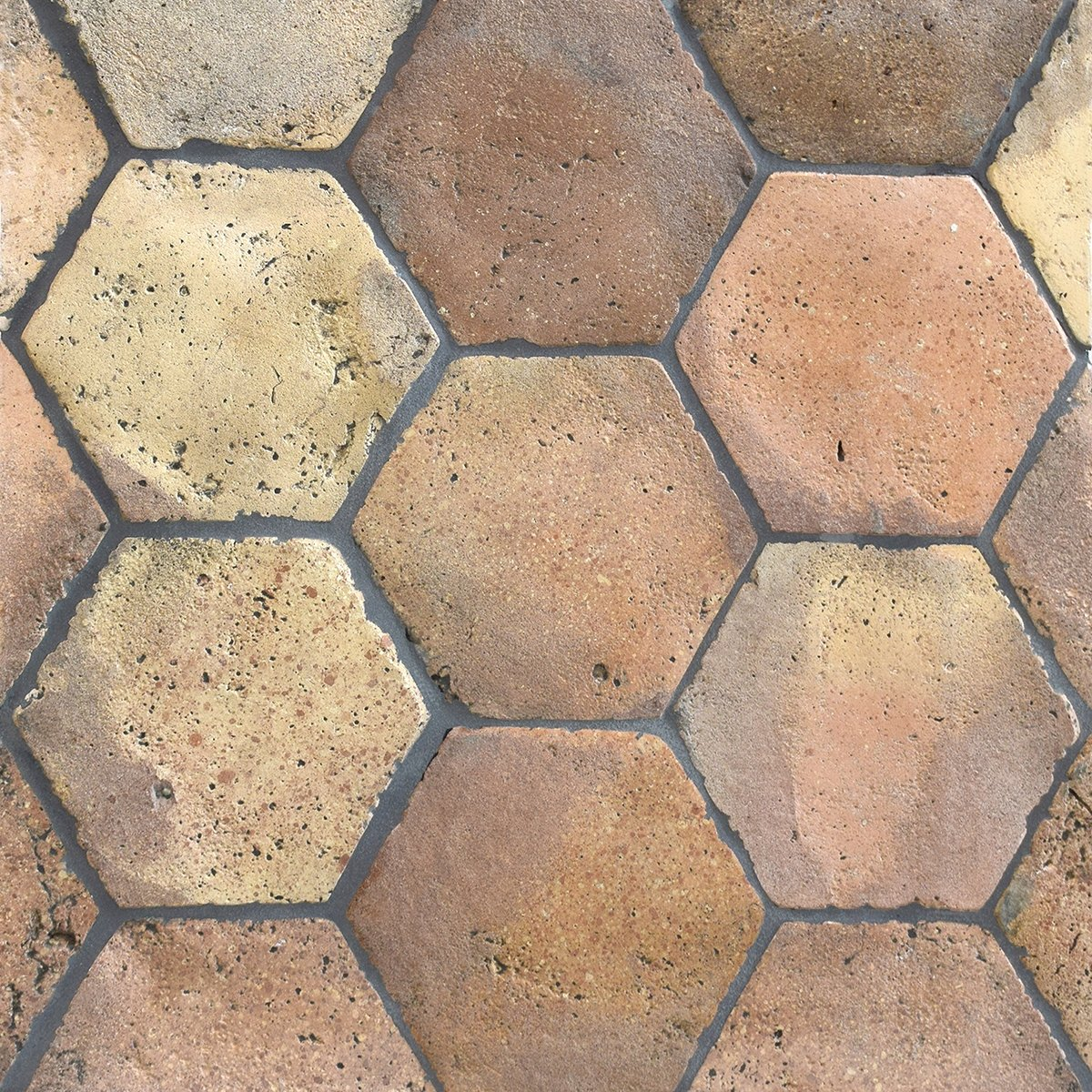 Reclaimed Natural Hexagon Terracotta Tiles 6x6