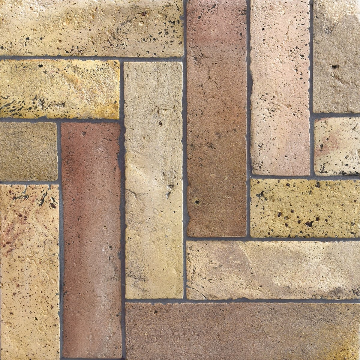 Reclaimed Natural Parquet Terracotta Tiles 3x12 Country