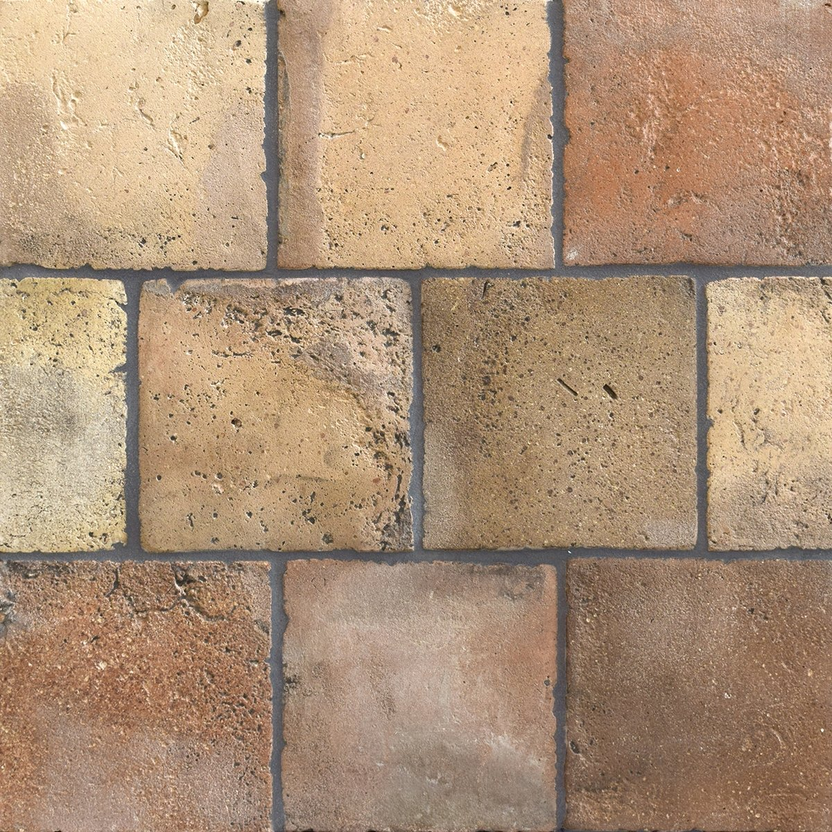 Reclaimed Natural Square Terracotta Tiles 6x6 Country Floors Of