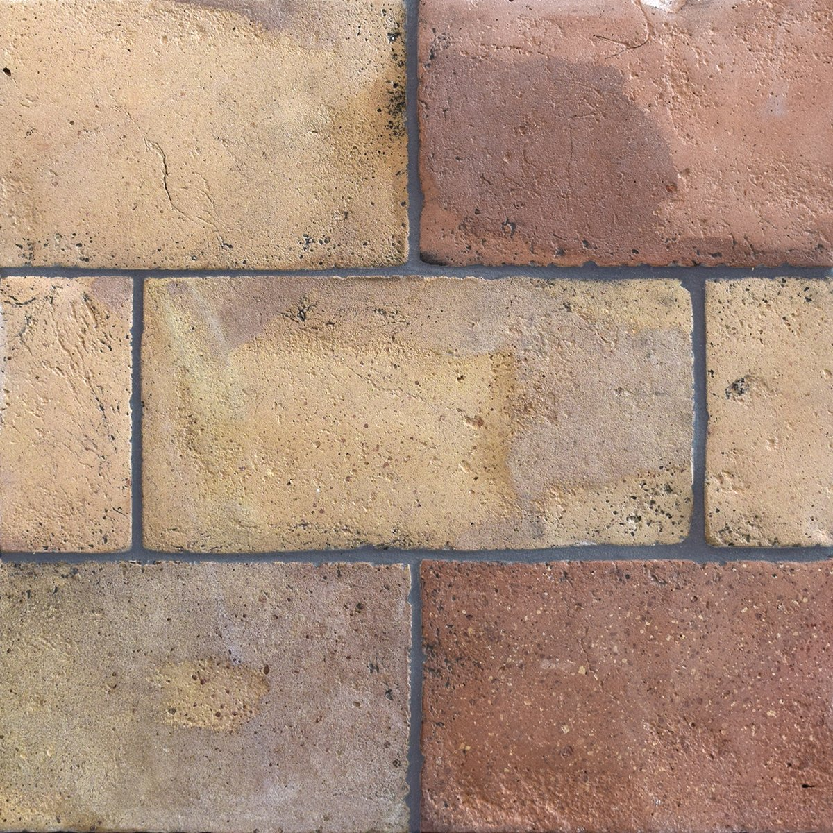 Reclaimed Natural Rectangle Terracotta Tiles 6x12 Country Floors