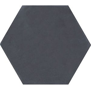Hexagon Nero Honed Cement Tiles 8x8