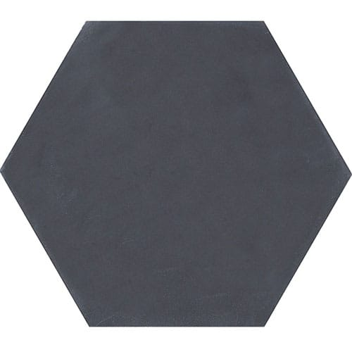 Hexagon Nero Honed Cement Tiles 8×8