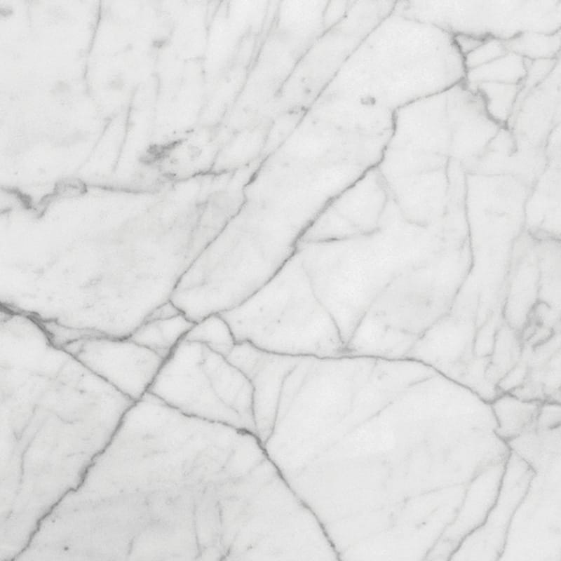 White Carrara C Select Polished Marble Tiles 24×24