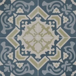 Tourmaline Blend Honed Cement Tiles 8x8
