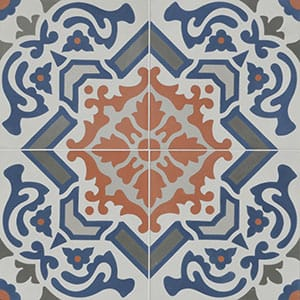 Madagascar Blend Honed Cement Tiles 8x8