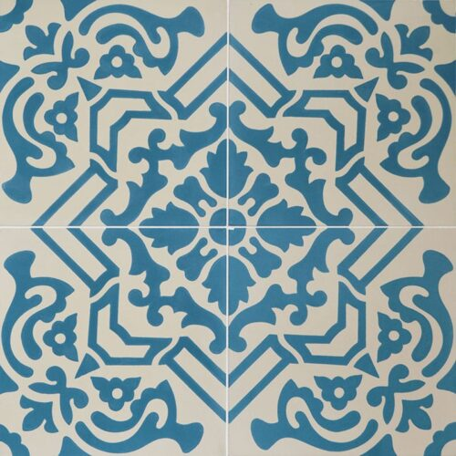 French Blue Blend Honed Cement Tiles 8×8