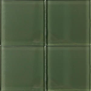 Rosemary Glossy Glass Tiles 4x4